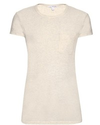 James Perse Patch Pocket Cotton Blend Jersey T Shirt