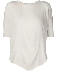 Raquel Allegra Sheer Panel T Shirt