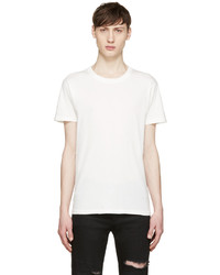 Saint Laurent White Destroyed T Shirt