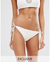 South Beach Crochet Tie Side Bikini Bottom