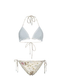 Zimmermann Iris Crochet Floral Triangle Bikini