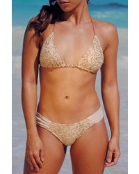 Vulcano Swimwear Golden Crochet Bikini Bottom