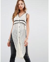 Mango Crochet Split Side Top