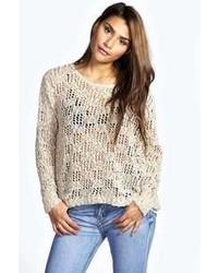 Boohoo Cece Crochet Knit Jumper