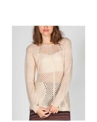 Dex Crochet Inset Hi Low Sweater