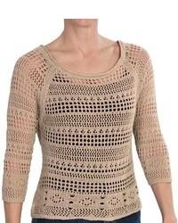 Zena Essentials Crocheted Sweater 34 Sleeve