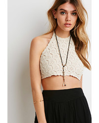 Forever 21 Crochet Halter Crop Top