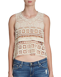 Romeo & Juliet Couture Crocheted Crop Top