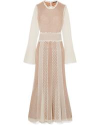 Alexander McQueen Open Ed Crocheted Cotton Blend Midi Dress