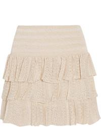 Endiabler metallic crochet knit mini skirt medium 273002
