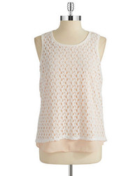 Lord & Taylor Design Lab Layered Effect Crocheted Top