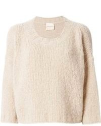 Beige cropped sweater original 4662179