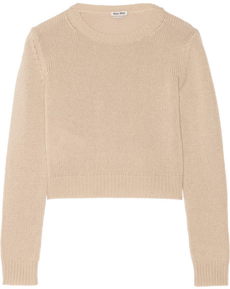 0644435d56 Miu Miu Cropped Cashmere Sweater