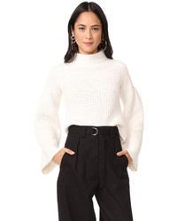 Cropped sweater with trumpet sleeves medium 5220152