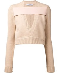 Givenchy Cropped Banded Sweater