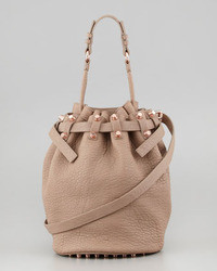 Alexander Wang Diego Bucket Bag Beigerose Golden Hardware
