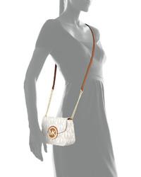 153d0d27165d ... MICHAEL Michael Kors Michl Michl Kors Fulton Small Logo Crossbody Bag  Vanilla