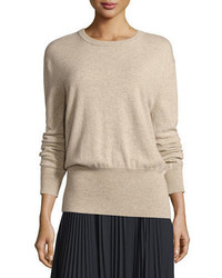 Vince Cashmere Cutout Back Blouson Sweater