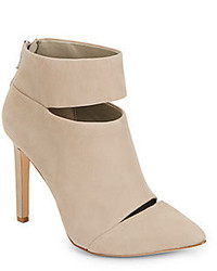 BCBGeneration Carolyn Cutout Nubuck Leather Ankle Boots