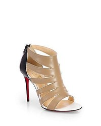 Christian louboutin beauty leather sandal ankle boots beige medium 563657