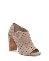 Vince Camuto Prisha Perforated Open Toe Bootie