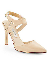 Elysia leather ankle strap pumps medium 99843