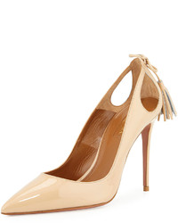 Forever marilyn patent leather cutout pump nude medium 271902