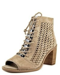 Vince Camuto Trevan Round Toe Suede Tan Ankle Boot