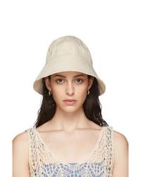 Jil Sander Off White Denim Bucket Hat