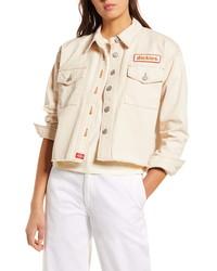 Dickies Logo Patch Crop Cotton Trucker Jacket