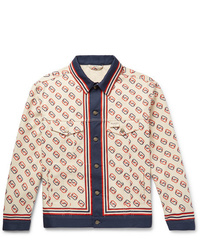 Gucci Logo Print Denim Jacket