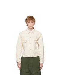 Maison Margiela Off White Denim Fitted Sports Jacket