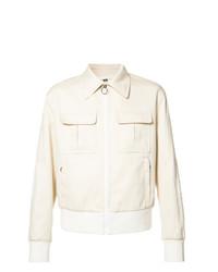 Neil Barrett Zipped Pocket Jacket Nude Neutrals
