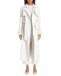 Partow Wax Denim Trench Coat