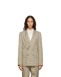 Lemaire Beige Double Breasted Blazer