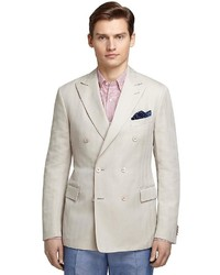 Brooks brothers cream herringbone sport coat medium 709710
