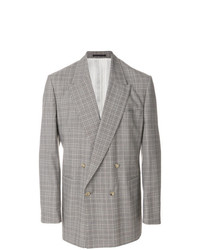 E. Tautz Checked Double Breasted Jacket