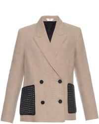 Double breasted linen blazer medium 3645335