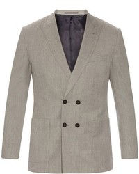 Mathieu Jerome Double Breasted Wool Blazer