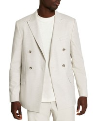River Island Textured Double Breasted Cotton Sport Coat