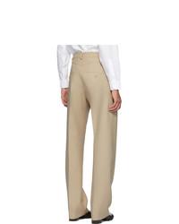 Random Identities Beige High Rise Five Pocket Trousers