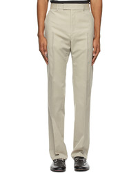 Gucci Beige Mohair Wool Trousers