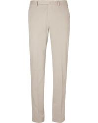 Beige slim fit stretch cotton and cashmere blend suit trousers medium 3693392