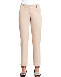 Brunello cucinelli stretch cotton pants medium 98329