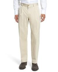 Bills Khakis Classic Fit Pleat Front Chamois Cloth Pants