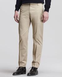 Maison Martin Margiela Flat Front Trousers Beige