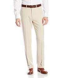 Haggar Micro Check Plain Front Pant