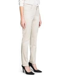 Mango Outlet Slim Fit Cotton Trousers