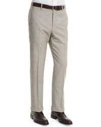 Zanella Parker Flat Front End On End Trousers Light Beige