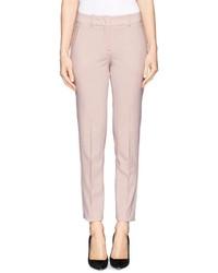 Armani Collezioni Slim Leg Crepe Pants
